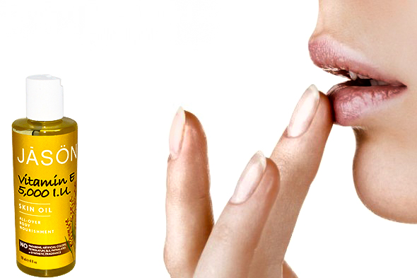 Moisturize Dry Lips with Vitamin E Oil
