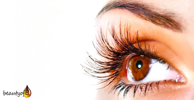 Eyelashes growth with Vitmain E Oil