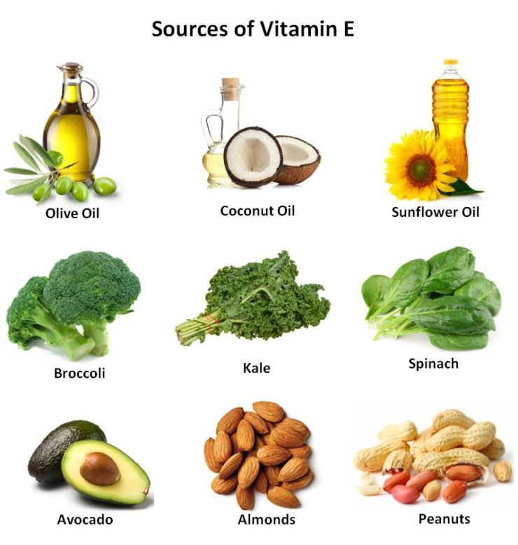 Food Sources with Vitamin E Oil